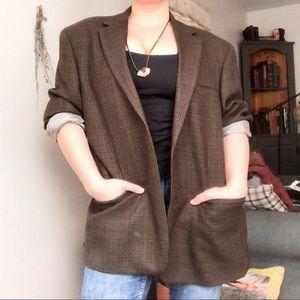 Vintage | 100% Wool Oversized Boyfriend Blazer